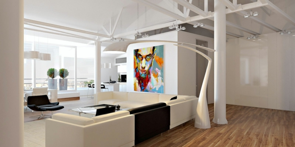 esprit-loft-peinture-choquante-dans-un-intérieur-extravagant