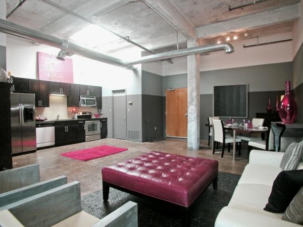 esprit-loft-studio-avec-un-pilier