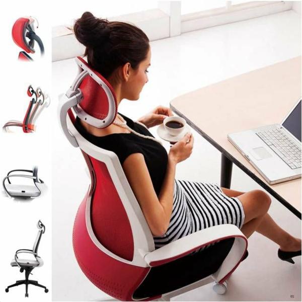 fauteuil-de-bureau-ergonomique-ouge-et-blanc