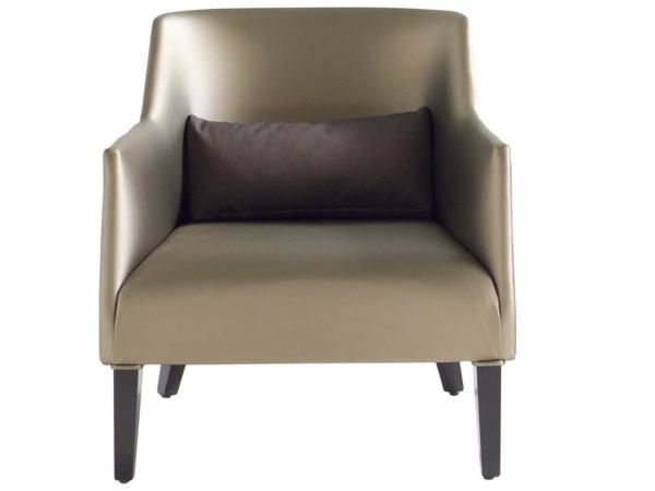 fauteuil-roche-bobois-design-bronzé