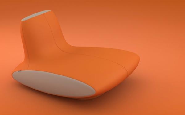 fauteuil-roche-bobois-orange