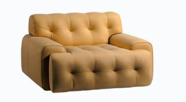 fauteuil-roche-bobois-jaune-pâle