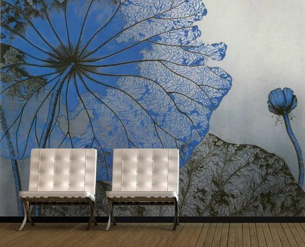 floral-motif-panneau-mural