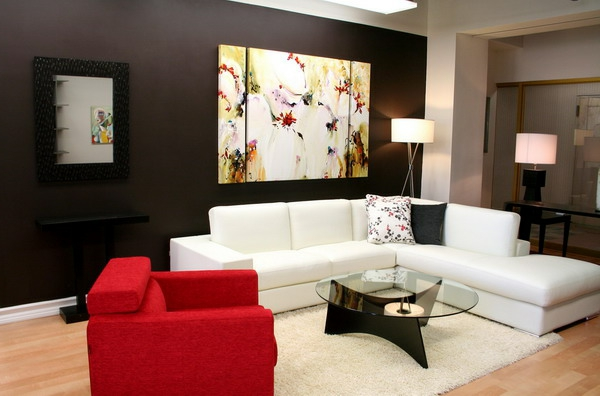 idée-déco-de-salon-moderne-en-blanc-et-rouge
