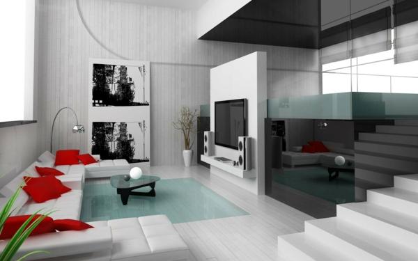 idée-déco-de-salon-moderne-gamme-noir-et-blanc