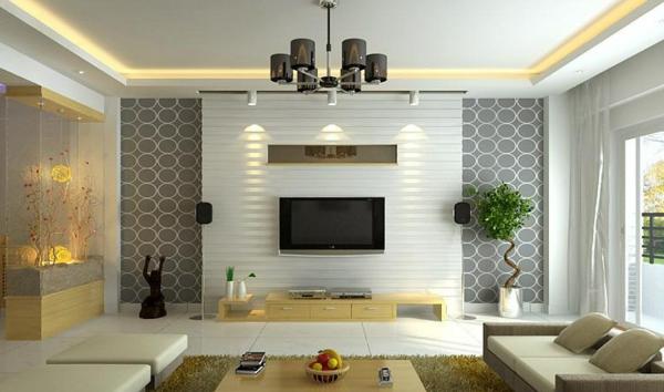Une id e d co de salon moderne est une inspiration pour l 39 imagination - Idee papier peint salon ...