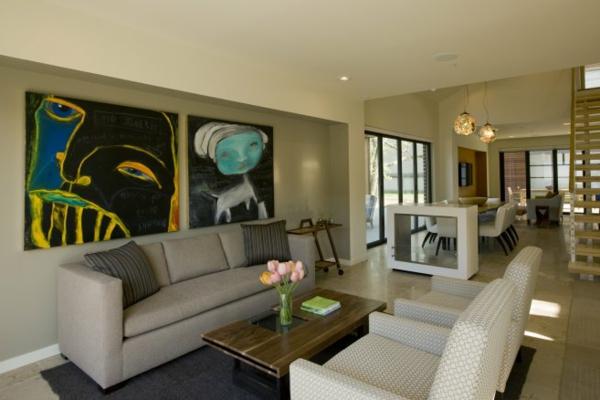 idée-déco-de-salon-moderne-peintures-avant-gardes