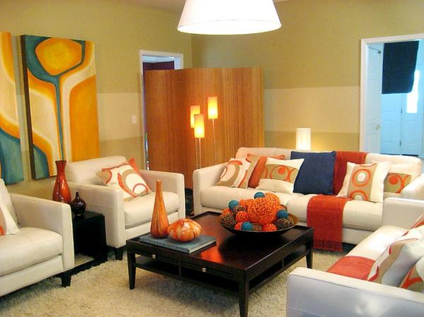 Une id e d co de salon moderne est une inspiration pour l for Modele de peinture pour salon