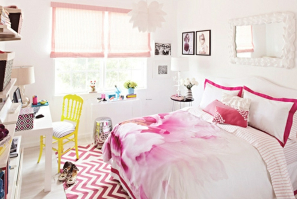 Id es d co pour le lit de fille ado en rose for Chambre ado fille ikea