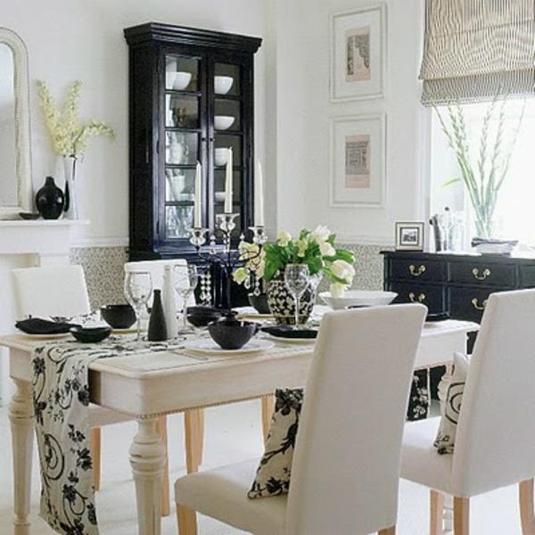 idee deco salle a manger avec chemin de table