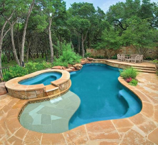 incroyable 49 modèles- piscine creusée en forme de rein ...
