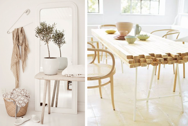 intérieur blanc et bois brut idée déco style scandinave design--décoration-scandinave