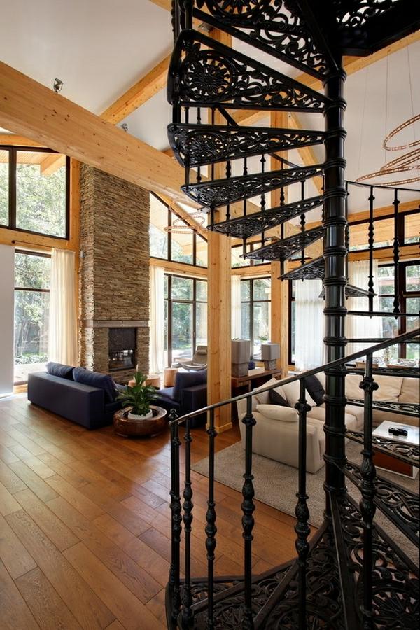 intérieur-escalier-spirale-de-fer-forgé