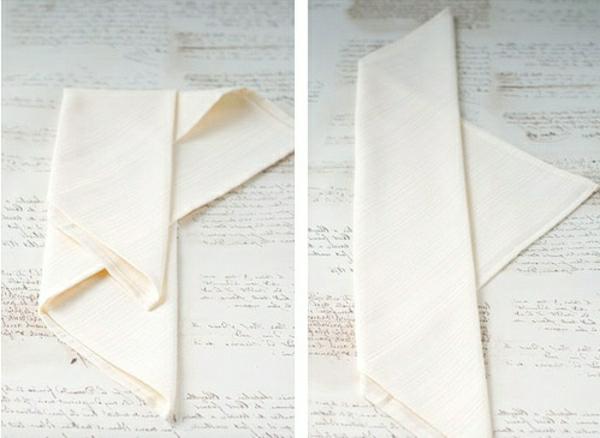 ivoire-serviette-pliage
