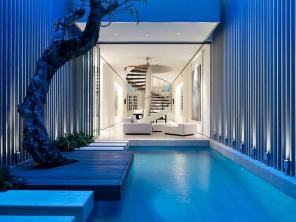 jardin-intérieur-minialiste-bleu