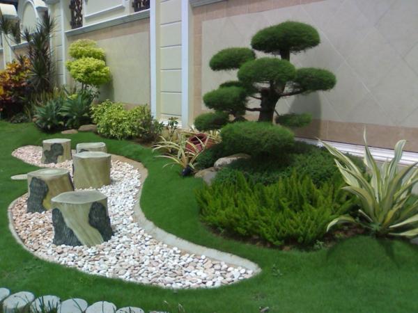 Le jardin japonais encore 49 photos de jardin zen - Decoration pour pilier exterieur ...