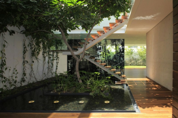 Jardin Japonais Près Du0027un Escalier Intérieur