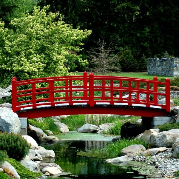 Le jardin japonais encore 49 photos de jardin zen - Pont de bois jardin ...
