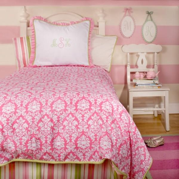 élégant-tissue-pour-la-coouverture-du-lit-en-rose
