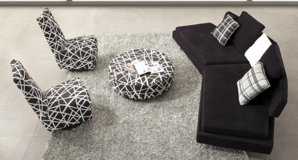 la-maison-du-canapé-rond-et-fauteuil-blanc-et-noir