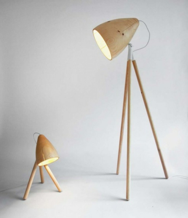 Un lampadaire fly apporte du style et du charme au salon for Lampadaire interieur bois
