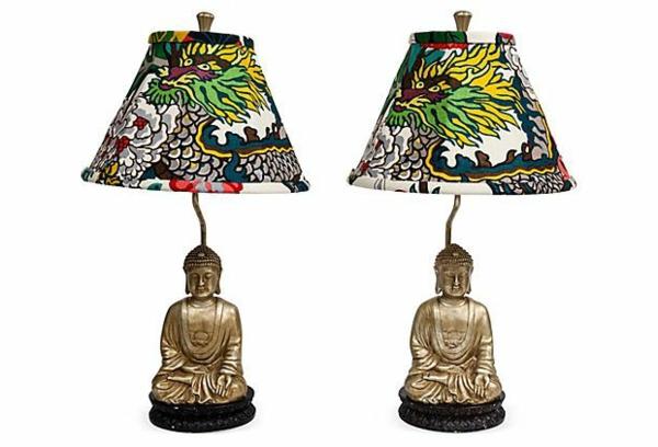 lampe-bouddha-deux-lampes-avec-des-dessins-de-dragons