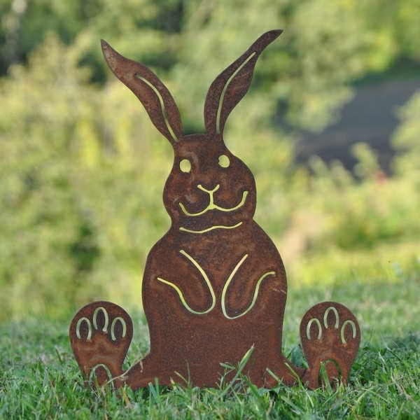 decoration de jardin lapin