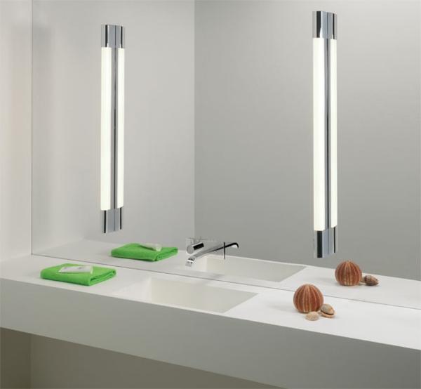 Id es d 39 clairage de miroir pour la salle de bain for Eclairage salle de bain led