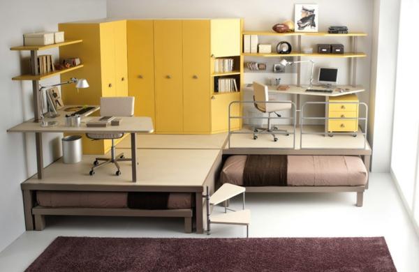 lit-d'enfant-original-deux-lits-sous-deux-bureaux