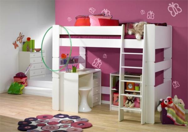lit-mezzanine-pour-enfant-mur-papillions
