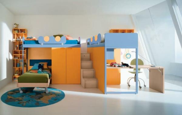 lit-mezzanine-pour-enfant-orange