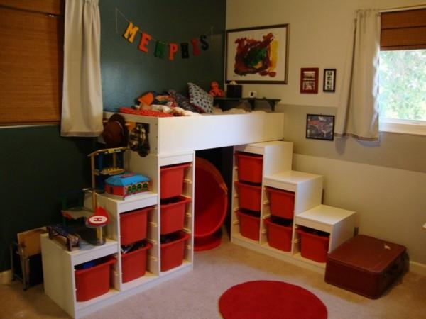 un lit mezzanine pour enfant des id es en photos. Black Bedroom Furniture Sets. Home Design Ideas