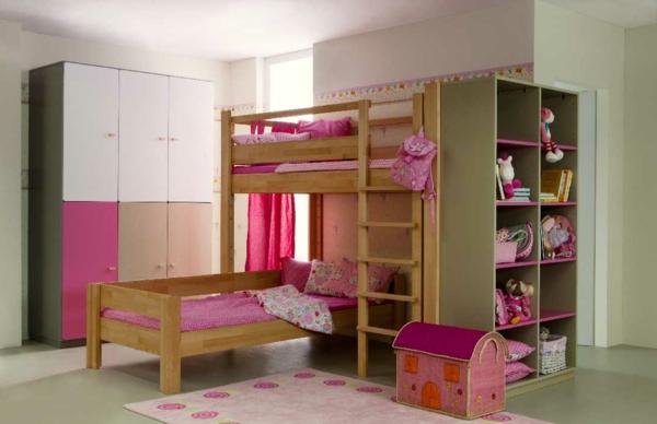 lit-mezzanine-pour-enfant-rose