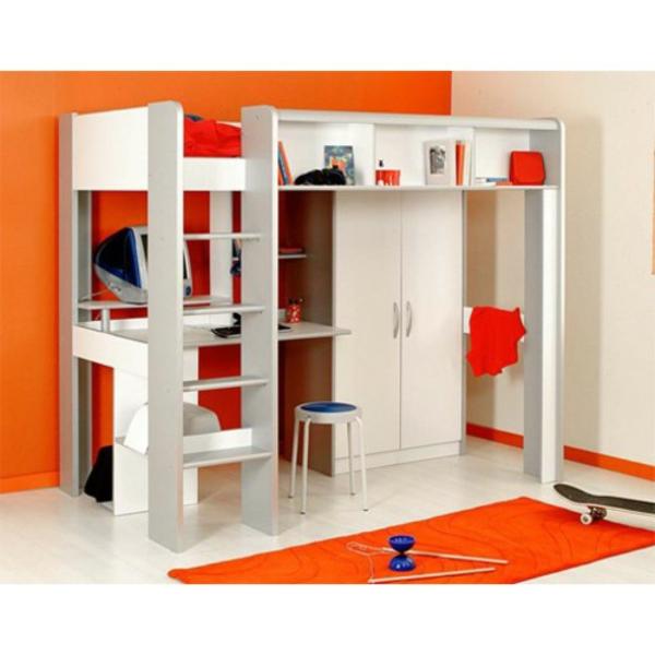 lit-mezzanine-pour-enfant-rouge