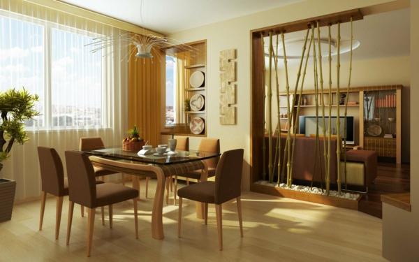 Une cloison japonaise du style et de l 39 intimit dans l for Bambou interieur