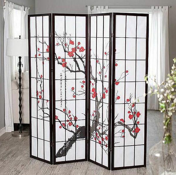une cloison japonaise du style et de l 39 intimit dans l. Black Bedroom Furniture Sets. Home Design Ideas