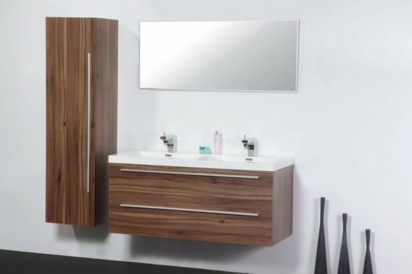 Awesome meuble salle de bain double vasque colonne images for Colonne salle de bain home 24