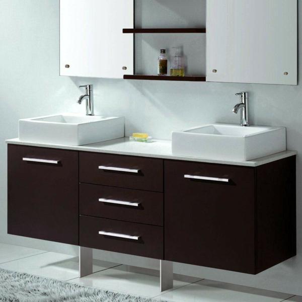 meuble-salle-de-bain-à-double-vasque-avec-deux-éviers-rectangulaires