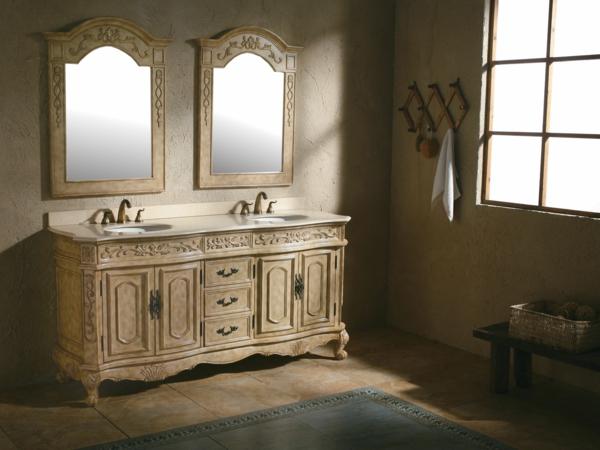 meuble-salle-de-bain-à-double-vasque-avec-deux-commodes-jolis