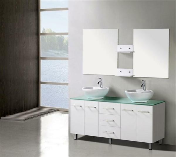 meuble-salle-de-bain-à-double-vasque-avec-deux-miroirs-rectangulaires