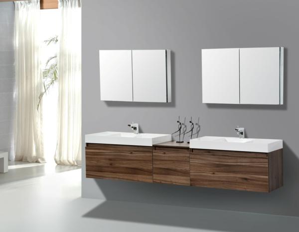 meuble-salle-de-bain-à-double-vasque-avec-deux-miroirs