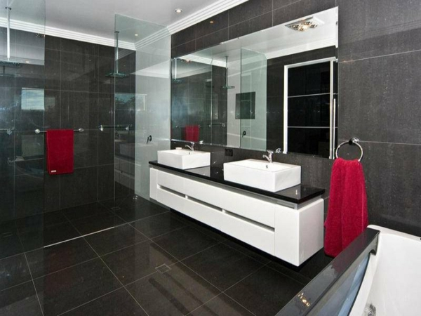 Le meuble salle de bain double vasque convient une for Meuble de salle de bain moderne