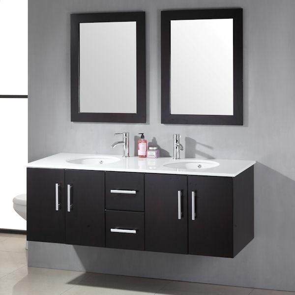 meuble-salle-de-bain-à-double-vasque-deux-éviers-ronds-et-deux-miroirs-rectangulaires
