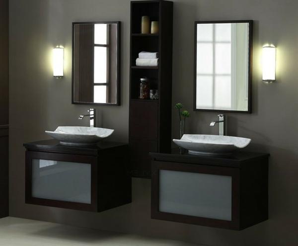 Le meuble salle de bain double vasque convient une - Petits meubles salle de bain ...