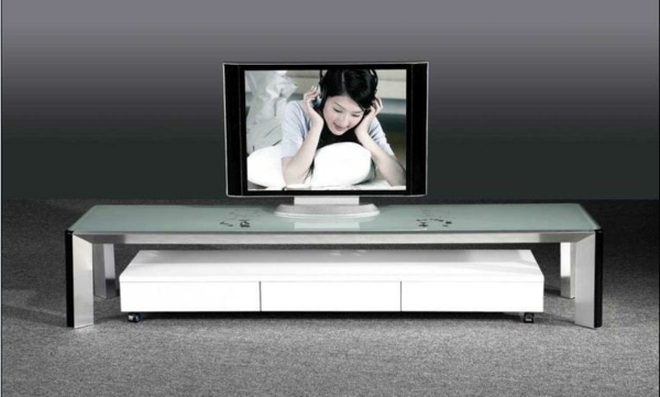 Le meuble tv design et style pour l 39 int rieur for Table tv en verre