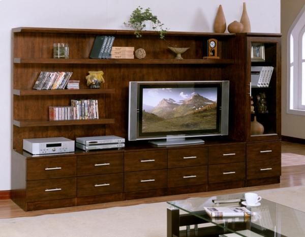 Meuble Tv Bureau : Meuble Tv En Bois Massif