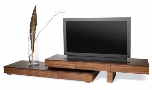 Le meuble tv design et style pour l 39 int rieur - Meuble tv en bois brut ...