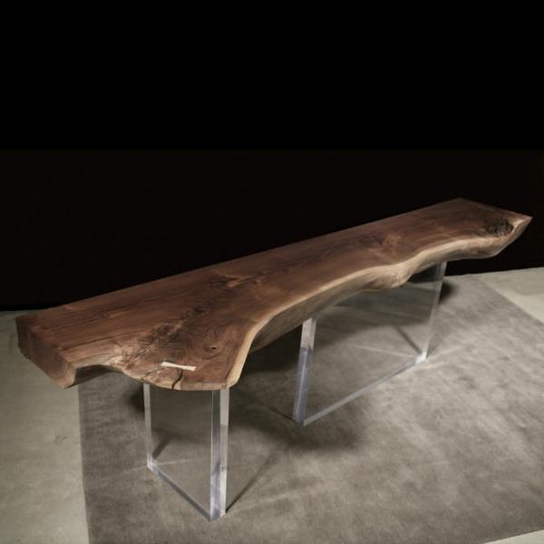 Les meubles bois brut la tendence et le style nature sont l for Meuble bois brut design