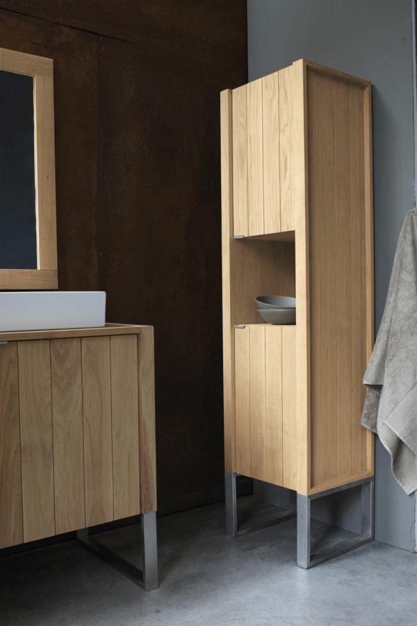 Le meuble colonne de salle de bain est original est pratique prenez