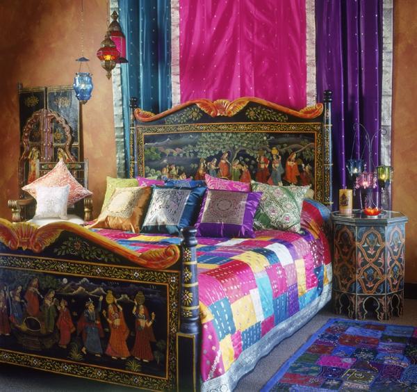 meubles-indiens-chambre-à-coucher-impressionnante